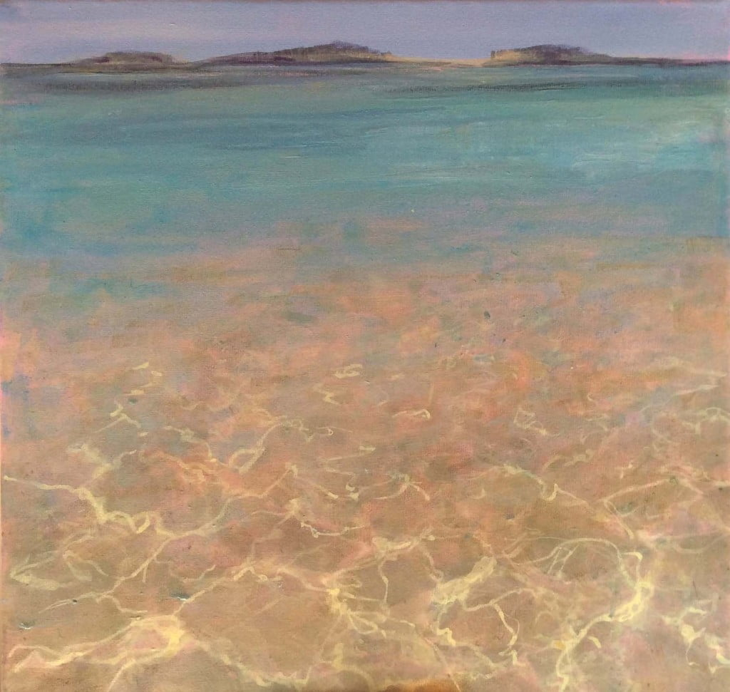 Towards Tresco, acrylic on canvas 30 x 30 cm sold