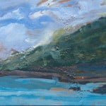 Stack Point, oil on canvas 30 x 15cm