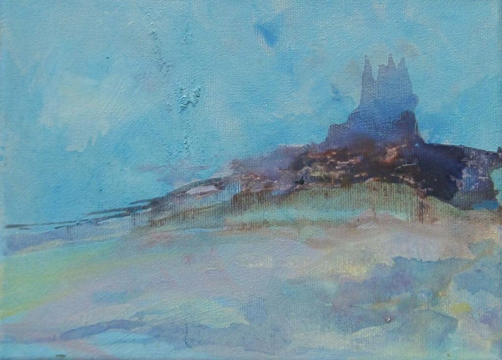 Misty Mount, acrylic on canvas