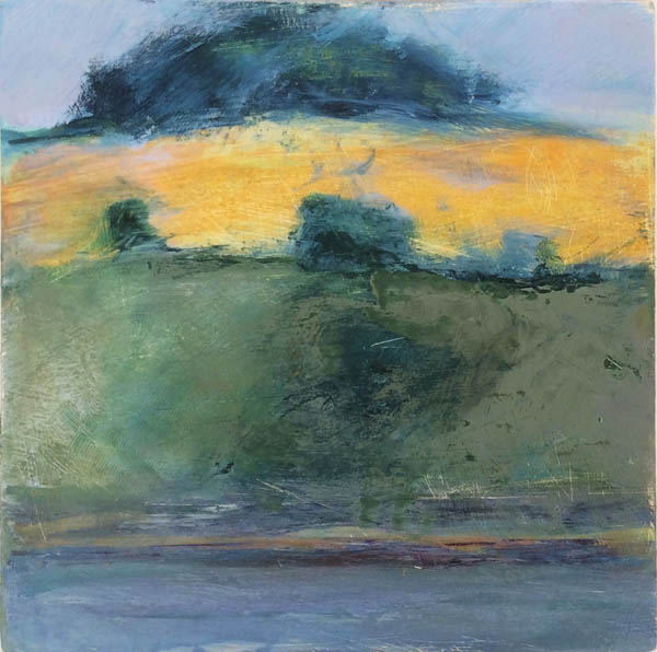 The Copse, 10cm x 10  oil on panel sold