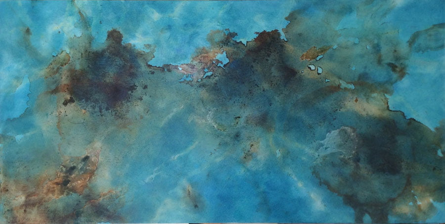 Float, oil on canvas 80 x 40cm