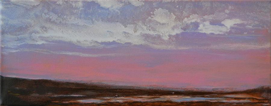 Flow, oil on canvas 49 x 20cm