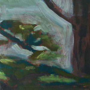 Jane Howard, Quiet Corner, oil on wooden panel, 10x10cm
