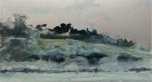 Jane Howard, Energy Rising, enamel paint on aluminium, 28 x 15.5cm