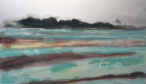 Jane Howard, Fresh Morning, enamel paint on aluminium, 25.5 x 15cm