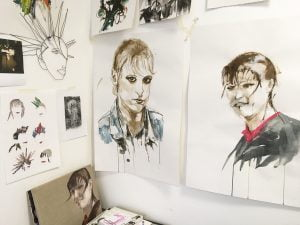Jane Howard, work in studio