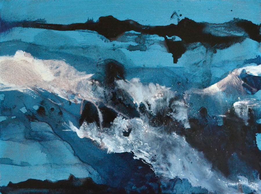 Rush, oil on canvas 40 x 30cm