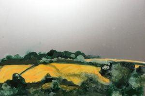 Jane Howard, Trefusis Glow, enamel paint on aluminium 22 x 15cm